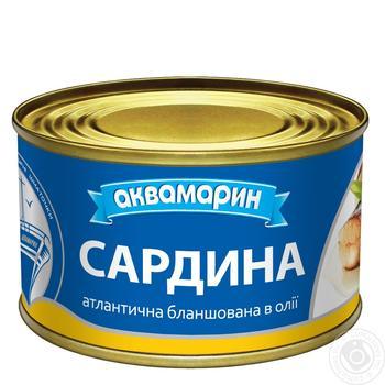 Сардина Аквамарин атлантична баланшована в олії 240г - купити, ціни на Novus - фото 3
