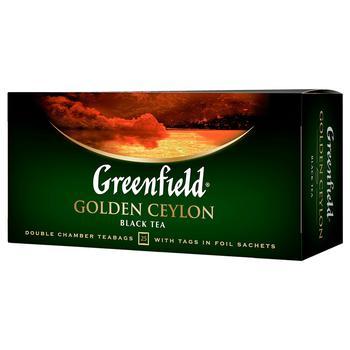 Чай черный Greenfield Golden Ceylon 25шт 2г - купить, цены на Novus - фото 1
