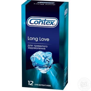 Презервативы Contex Long love 12шт - купить, цены на Метро - фото 1