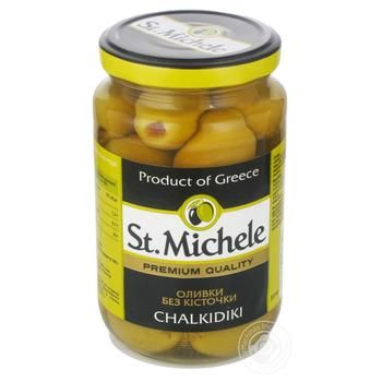 olive St.michele green pitted 360g glass jar - buy, prices for Novus - image 2