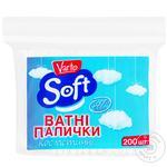 Ватні палички Varto Soft косметичні 200шт