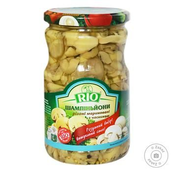 Rio Champignons With Garlic Cutted Marinated Champignons 690g - buy, prices for Novus - image 1