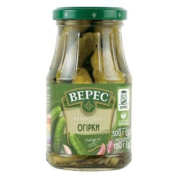 Veres Pickled Cucumbers 300g - buy, prices for Auchan - photo 1