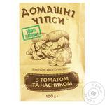 Чипсы Домашние с томатом и чесноком 100г