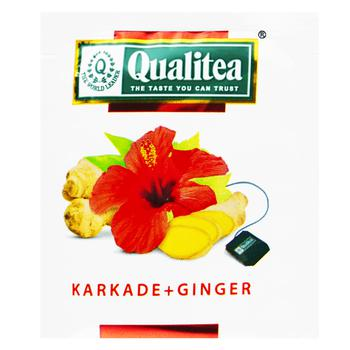 Qualitea Herbal Karkade Tea with ginger 2g - buy, prices for Auchan - photo 1