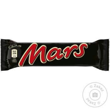 Батончик Mars с нугой и карамелью в молочном шоколаде 51г
