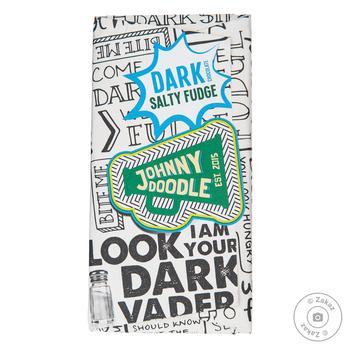 Шоколад чорний посипаний шматочками злегка соленої помадки Johnny Doodle 150гр