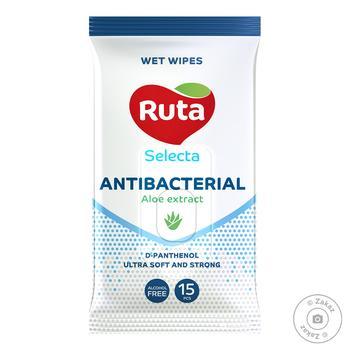 Серветки вологі Ruta Antibacterial с алое 15шт - купить, цены на Восторг - фото 1