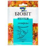 Dry food for aquarium fish Priroda in flakes Biovit Universal 10g