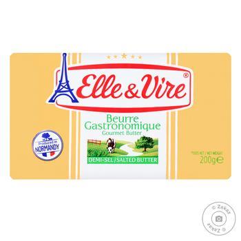 Масло Elle&Vire вершкове солоне 80% 200г - купити, ціни на Восторг - фото 1