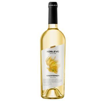 Вино Коблево Совиньон белое сухое 13% 0,75л - купить, цены на Ашан - фото 1