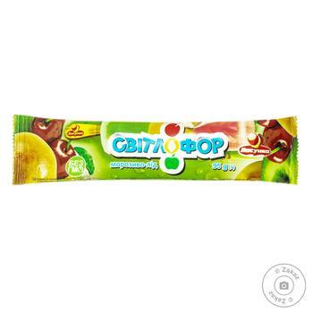 Мороженое Ласунка Светофор вишня-абрикос-зеленое яблоко 95г - купить, цены на Восторг - фото 1