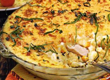 Картофель c курицей и кукурузой