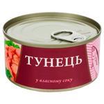 Тунець Fish Line у власному соку 185г - купити, ціни на Novus - фото 1