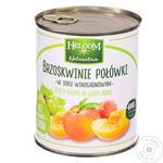 Fruit peach Helcom canned 850ml can