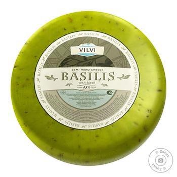 Сыр Vilvi Базилис с базиликом 45%