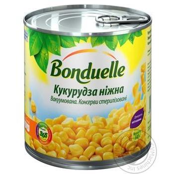 Кукуруза Бондюэль нежная вакуумированная 425мл - купить, цены на Novus - фото 1