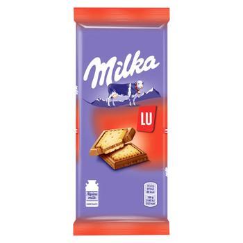 Шоколад Milka молочный с бисквитным печеньем Lu 87г