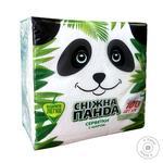 Napkins Snizhna panda white paper 100pcs Ukraine