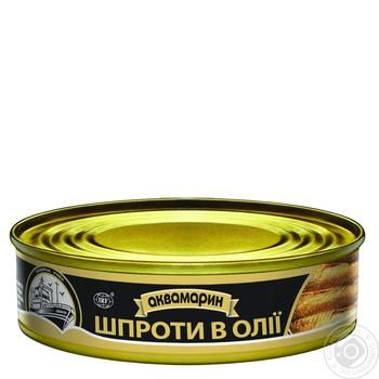 Akvamaryn In Oil Sprats 150g - buy, prices for Auchan - image 1