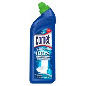 Гель для чистки унитаза Comet Океан 750мл - купить, цены на Ашан - фото 2
