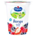 Йогурт Савушкин Продукт Лесная ягода 2% 350г
