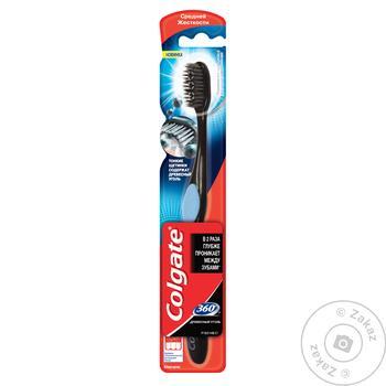 Зубная щетка Colgate 360 Древесный уголь средней жесткости - купить, цены на Фуршет - фото 3
