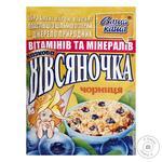 Oatmeal porridge Vasha Kasha Ovsyanochka Fabulous Bilberry with sugar quick-cooking 35g Ukraine