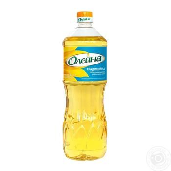 Oleina Traditional Refined Sunflower Oil 850ml - buy, prices for MegaMarket - image 1