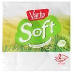 Салфетки Varto Soft столовые белые двухслойные 24х24 40шт