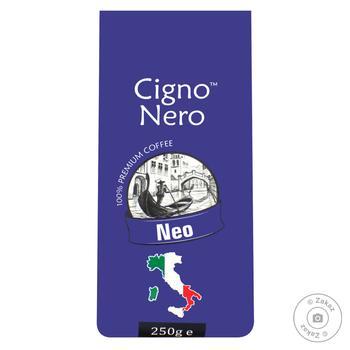 Кофе молотый Cigno Nero Neo 250г - купить, цены на Фуршет - фото 1