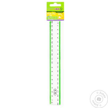 The Zibi Plastic Ruler With Color Strip 20cm - buy, prices for CityMarket - photo 1