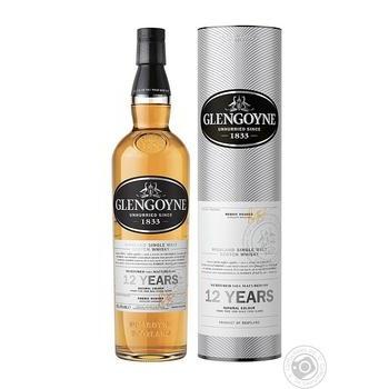 Виски Glengoyne 12 лет 40% 0,7л в тубусе - купить, цены на СитиМаркет - фото 1