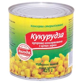 Кукурудза Вигода цукрова консервована 420г - купити, ціни на Varus - фото 1