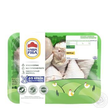 Голень Наша Ряба куриная охлажденная фасованная (упаковка ~ 450-550г)