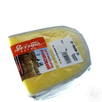 Сыр Добра Ферма Ранковый твердый 45% - купить, цены на Ашан - фото 1