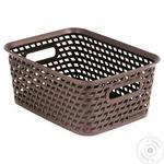 Сurver Your Style Rectangular Dark Brown Basket