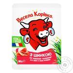 Сыр плавленый Веселая Коровка Cливочный с ветчиной 50% 90г - купить, цены на Фуршет - фото 5