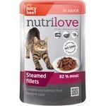 Food Nutrilove with beef in sauce for cats 85g
