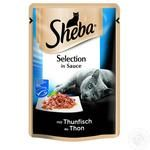 Sheba in sauce for cats with tuna food 85g