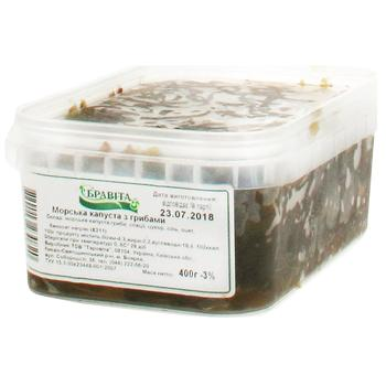Морская капуста Бравита с грибами 400г - купить, цены на Ашан - фото 1