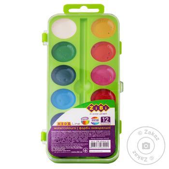 ZiBi Watercolor Paints 12 Colors - buy, prices for CityMarket - photo 4