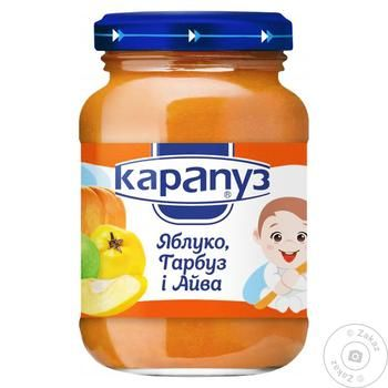 Пюре Карапуз яблоко, тыква и айва 200г