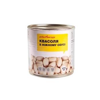 Овощи фасоль Добра вигода консервированная 425мл железная банка Украина