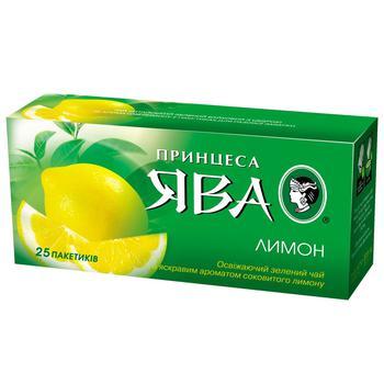 Чай зеленый Принцесса Ява Сочный лимон 25шт*1,5г