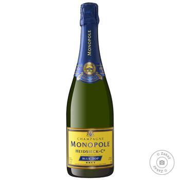 Шампанское Monopole Heidsieck & Co Blue Top Brut белое брют 12% 0,75л