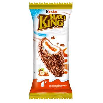 Вафли Kinder Maxi King карамель в молочном шоколаде с орехами 35г