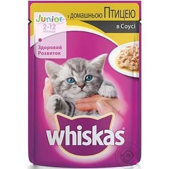 Корм Whiskas для котят с курицей в соусе 100г - купить, цены на Фуршет - фото 2