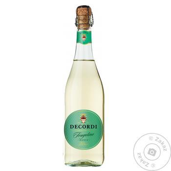 Вино ігристе Decordi Fragolino Bianco біле 0,75л - купити, ціни на Ашан - фото 1