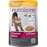 Food Nutrilove with chicken in jelly for cats 85g